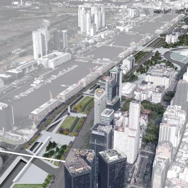 Inauguró el Paseo del Bajo, diseñado por arquitectos de la FAU