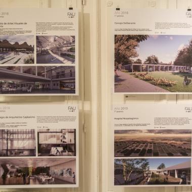 Se inauguró en la SCA la muestra «Premios y Obras» de la FAU