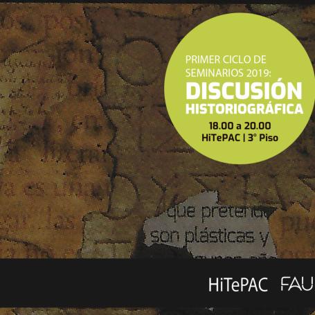 Ciclo de seminarios sobre la enseñanza de la Historia de la Arquitectura en las Universidades Nacionales