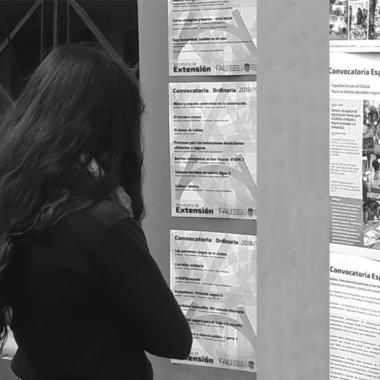 """Nueva expo de """"Extensión Universitaria"""" en el Hall central FAU"""
